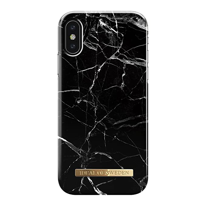 official photos eca08 64985 iDeal Of Sweden Black Marble Cell Phone Case for iPhone X