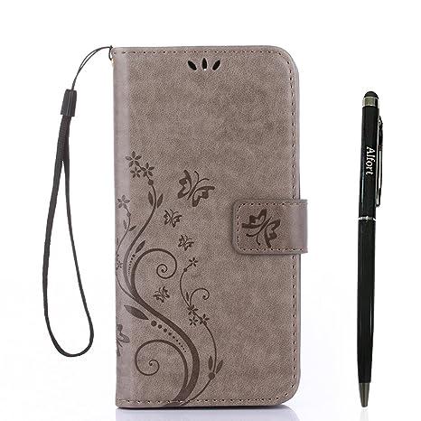 Samsung Galaxy A5 ( 2017 ) Hülle, Samsung Galaxy A5 ( 2017 ) Schutzhülle, Alfort Lederhülle PU Leder Tasche Cover Wallet Case