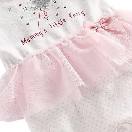 Recién nacido Niñas Peleles Algodón Mameluco Tutú Pijama Bebé Footies Tuta Outfits, 0-3 Meses: Amazon.es: Bebé
