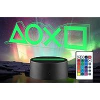 Xpassion Playstation lamp met kleurwisselfunctie 16 kleuren led-tafel-bureaulampen USB-oplaadbaar, slaapkamerdecoratie…