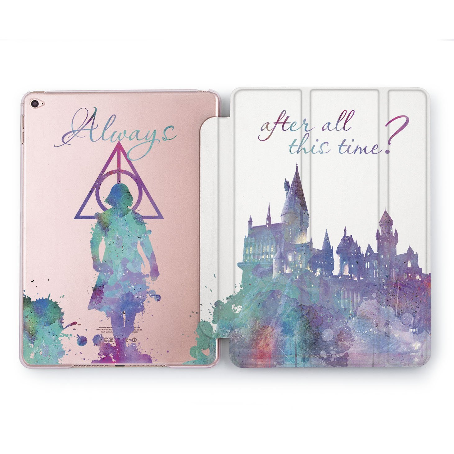 Wonder Wild iPad mini 1 2 3 4 / Air 2 / Pro 9.7 10.5 12.9 // Samsung Galaxy Tablet S2 / S3 / A 8.0 / A 10.1 inch case 2017 / 2018 Harry Potter and Deathly Hallows