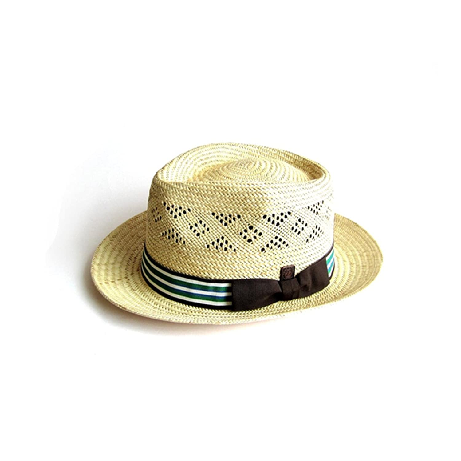 Dasmarca Mens Summer Palm Straw Fedora Hat - Bahamas