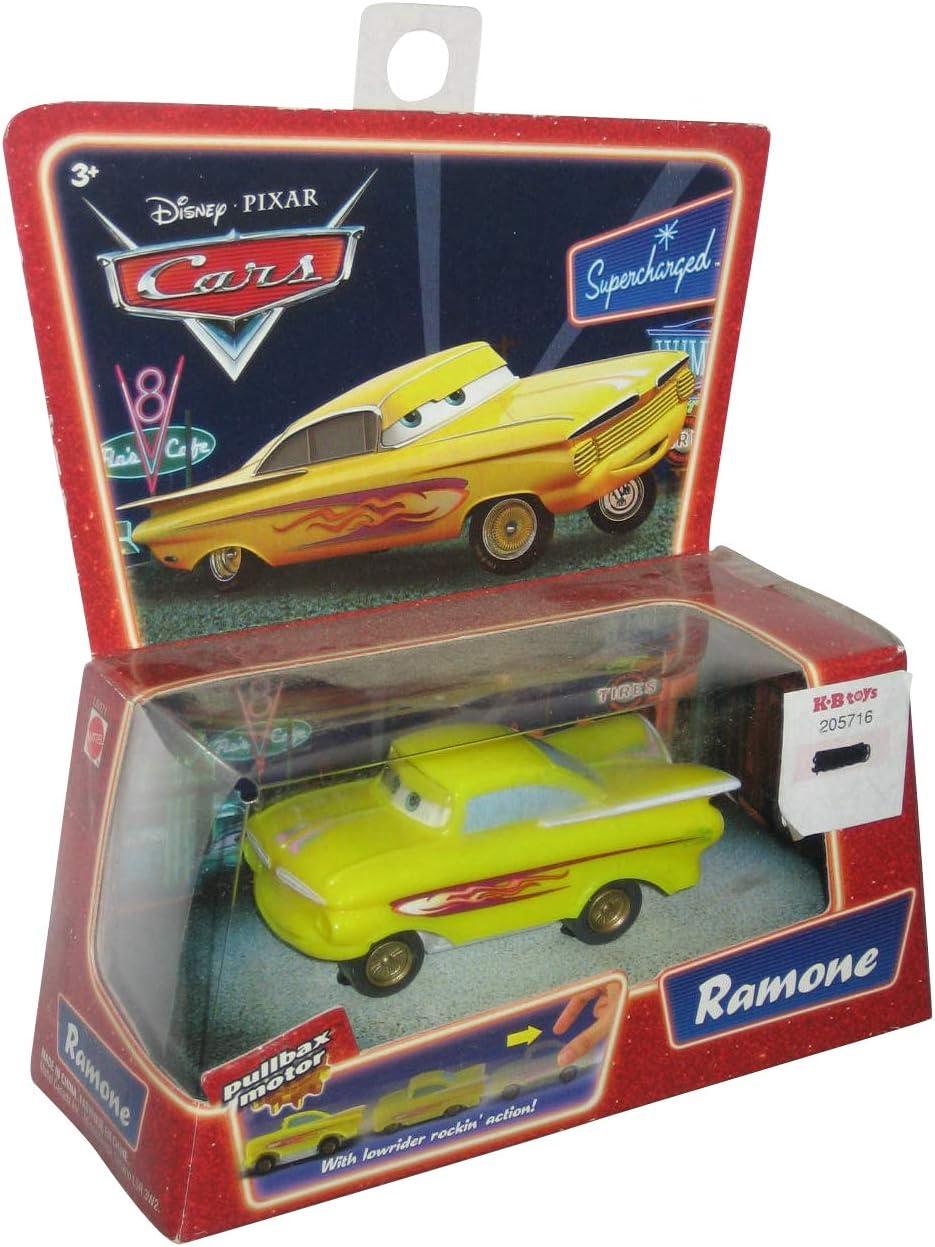 Amazon Com Disney Pixar Movie Series Cars Pullbax Motor Car Ramone With Lowrider Rocki Toys Games