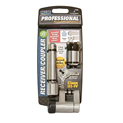 """Reese Towpower 7030600 Professional 5/8"""" Chrome Receiver Lock and Coupler Lock: Automotive"""