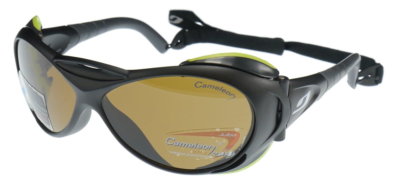 Gafas de sol Julbo Explorador Servicio Pesado, Negro con Protectores Laterales Extraíbles, Cameleon Anti-Niebla Lentes Fotocromáticas Polarizadas: ...