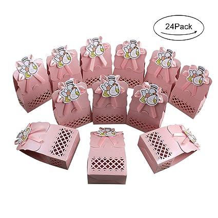 Amazon Com Aerwo 24pcs It S A Girl Baby Shower Treats Boxes