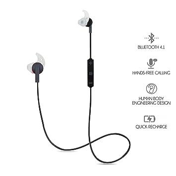 Bluetooth Deporte Auriculares, LB, mundo Auriculares inalámbricos, cancelación de ruido, sudor Auriculares