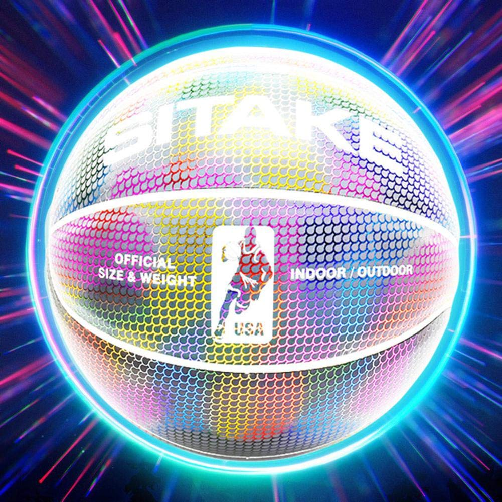 Gravere Luminous Basketball Super Bright Reflective Night Game Glowing Street Basketball Glow in The Dark Basketball Outdoor Sport Gift Toy for Kids Boys sale/2019