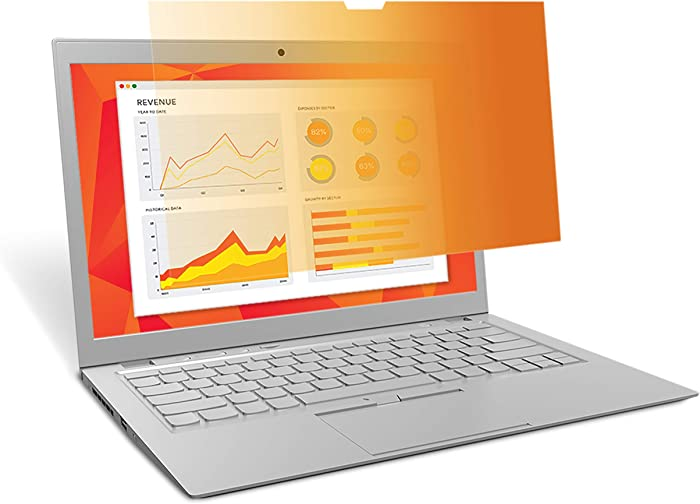 """3M Gold Privacy Filter for Full Screen 13.3"""" Widescreen Laptop with Comply Attachment System (GF133W9E)"""