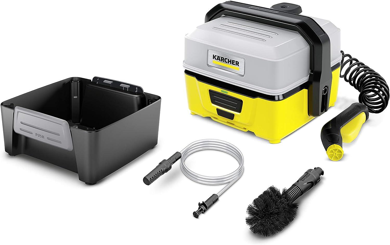 fango da tutte le superfici K/ärcher Adventure box OC 3 Outdoor Cleaner Idropulitrice portatile adatta per togliere sporco corredata dal box con spazzola e prolunga sabbia