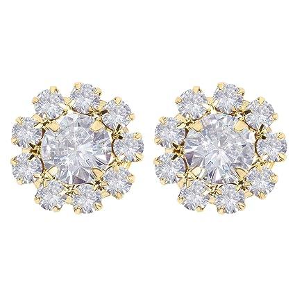 Amazon.com  Wholesale 24PCS 16MM Gold Plated Metal Clear Rhinestone ... 7913a7d6e2f4