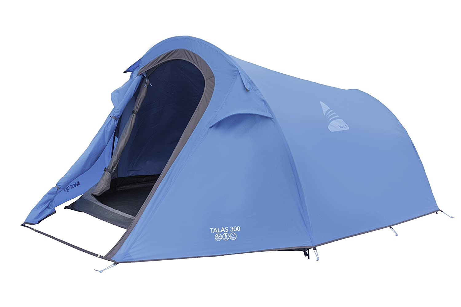 Vango Talas 200 Three Man Tent-3 Person - Tiendas de campaña de túnel, color verde, talla NA