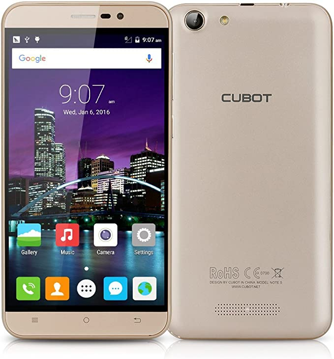 Cubot Note S - Smartphone 3G Libre Android 5.1 (Quad Core ...