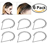 BESTOYARD Hair Hoop Band Black Wavy Metal Hoop Hair