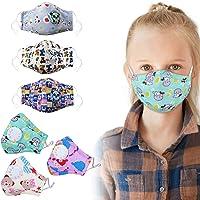 6 UNIDS Máscara de la boca Máscara linda de la máscara de algodón a prueba de polvo PM2.5 Máscara de la cara para niños