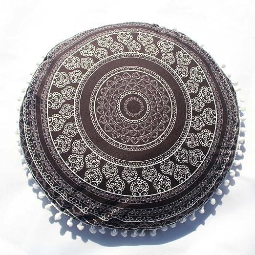 Funda Cojines, Xinan Indian Mandala Pillows Cojín casero bohemio redondo 43 * 43cm (H)