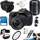Canon EOS 80D Digital SLR Kit with EF-S 18-135mm f/3.5-5.6 Image Stabilization USM Lens (Black) + Deal-Expo Essential Accessories Bundle