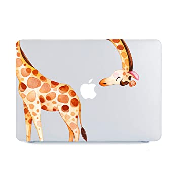 MacBook Air 13 Inch Case 2018 2019 Release A1932,Funny Giraffe Clear Case,Cute Animal Soft Touch Hard Shell Case Cover & Retina Display Fits Touch ID