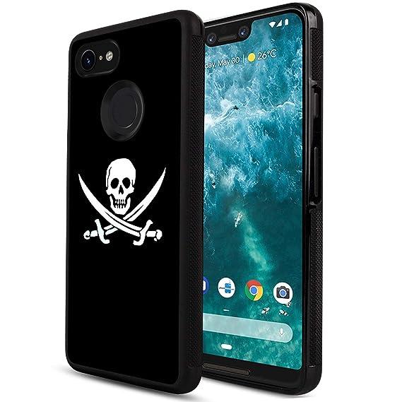 Amazon com: Obesty Black Skull Wallpaper Phone Case for