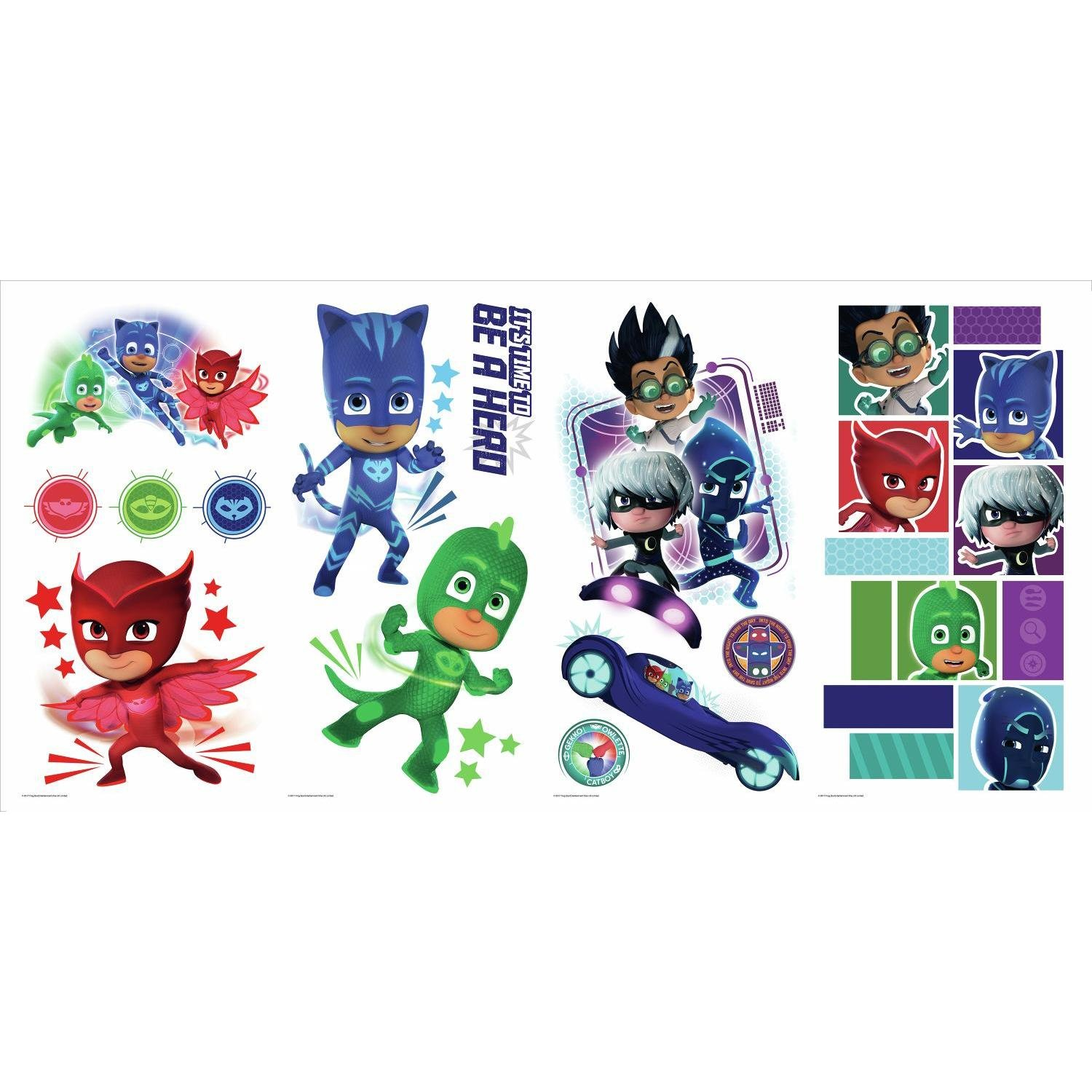 RoomMates RMK3586SCS PJ Masks Peel and Stick Wall Decals, 9 inches X 17.375 inches by RoomMates (Image #2)