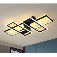 Jaycomey Dimmable Ceiling Light,4 Squares Modern LED Ceiling Lamps with Remote Control,80W Acrylic Flush Mount Ceiling…