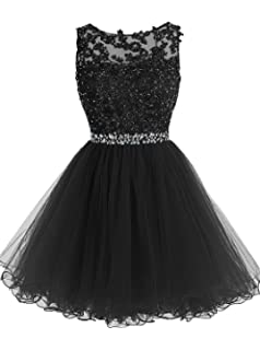 KYD Womens Short Prom Dresses 2018 Evening Gowns Wedding Party Homecoming Dress with Applique Beaded
