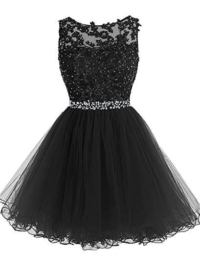 KYD Womens Short Prom Dresses 2018 Evening Gowns Wedding Party Homecoming Dress with Applique Beaded (