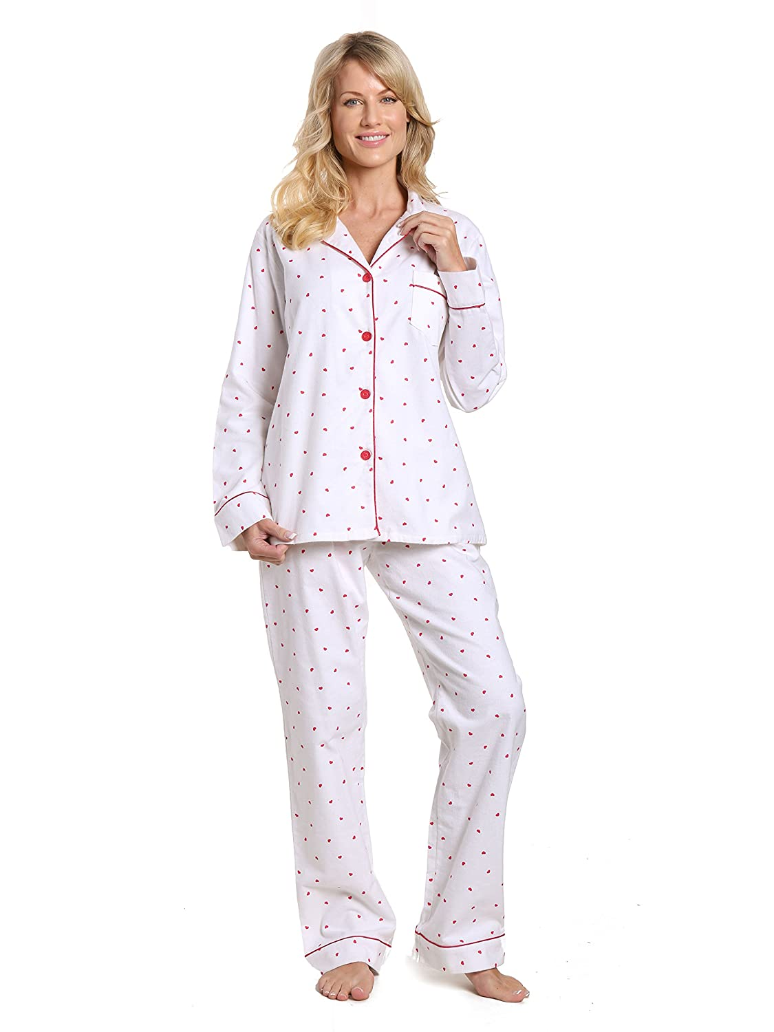 Twin Boat Womens 100% Cotton Flannel Pajama Sleepwear Set