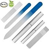 爪やすり ガラス製 爪磨き つめみがき ネイルケア用品 大小3個セット j-cheng