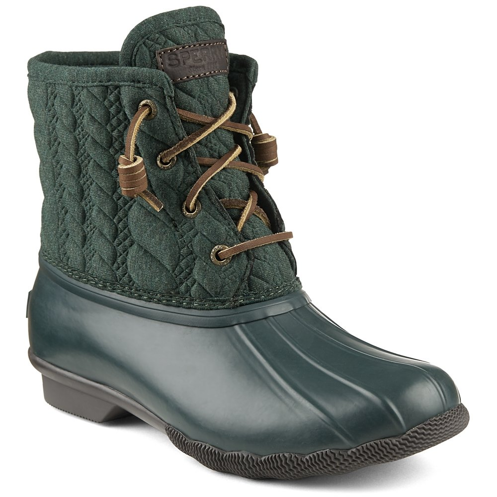 Sperry Top-Sider Women's Saltwater Rope Emboss Neoprene Rain Boot B019X5RD8Y 5 B(M) US|Green