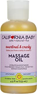 product image for California Baby Overtired and Cranky Massage Oil.(4.5 Ounces)