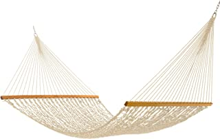 product image for Nags Head Hammocks NH15OT Admiral Oatmeal Duracord Rope Hammock with Free Extension Chains & Tree Hooks, Handcrafted in The USA, Accommodates 2 People, 450 LB Weight Capacity, 13 ft. x 65 in.