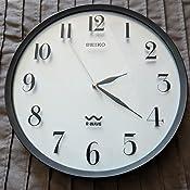 Amazon Com Seiko R Wave Wall Clock Silver Metallic Case