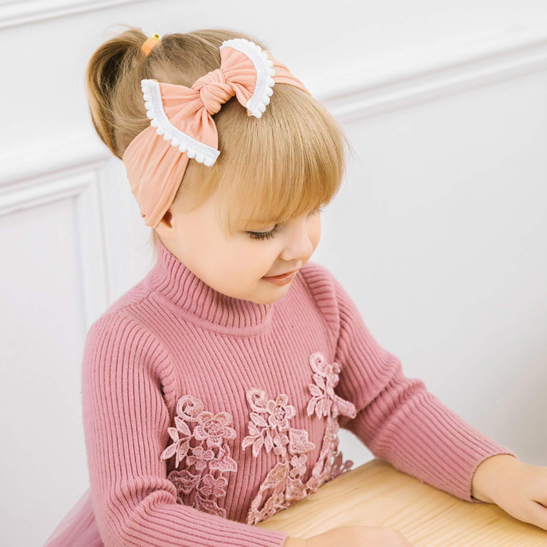 JMITHA Bambino fascia Fasce di fiore della neonata Cerchietto elastico Accessori per capelli a fiori