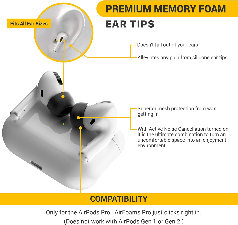 Airfoams Pro Schaumstoff Ohrstöpsel Für Airpods Pro Elektronik