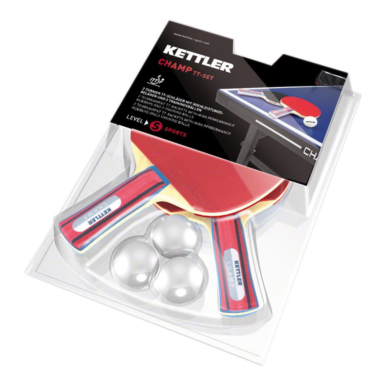 Kettler Basic–Set 2Schläger Champ und 3Bälle 3Sterne pinpong