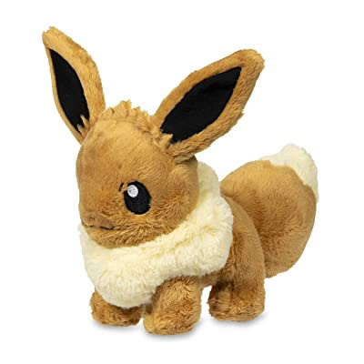 Pokémon Sitting Eevee Fluffy Plush: Toys & Games