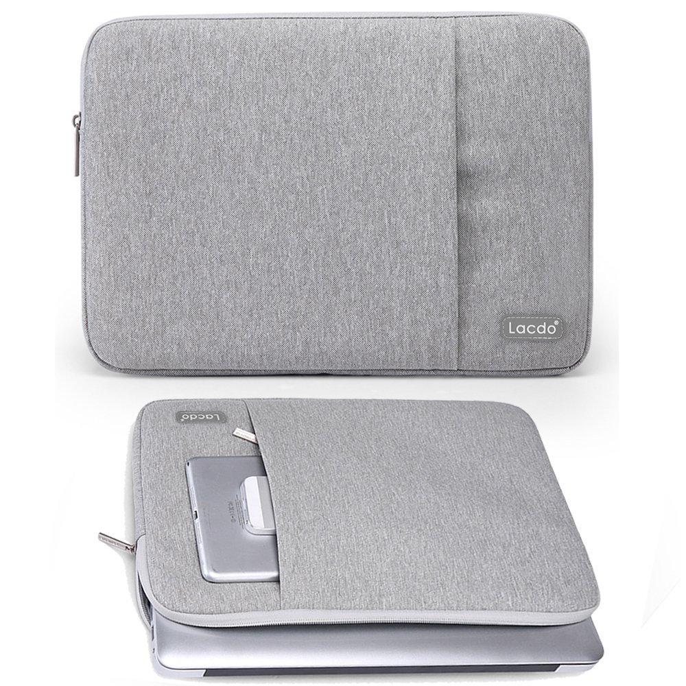 Lacdo 13-13.3 Inch Waterproof Fabric Laptop Sleeve Case Bag Notebook Bag Case for Apple MacBook Pro 13.3-inch Retina Display, Macbook Air 13, Pink Macbook Air 13 B1A09C5