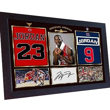 S&E DESING Michael Jordan NBA Foto enmarcada con autógrafo de ...