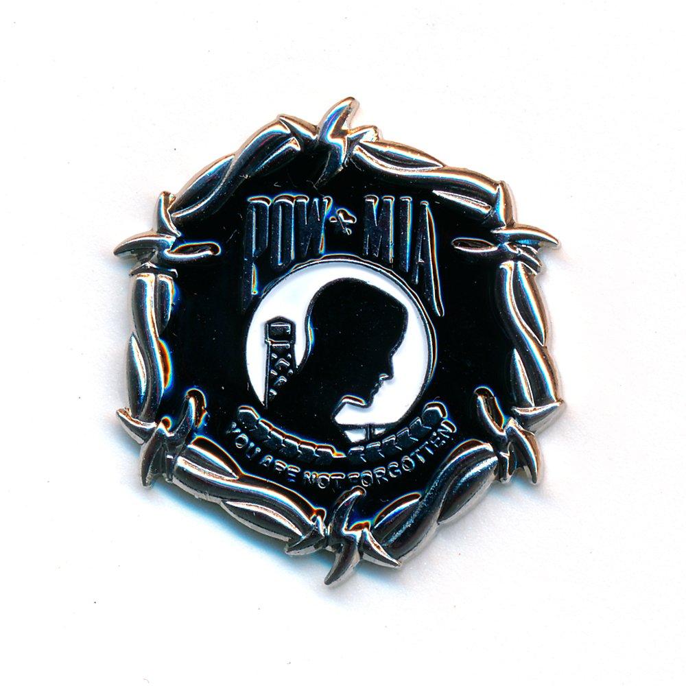 POW*MIA POW MIA Mount PowMia Prisoners of War Metall Button Pin Anstecker 0539