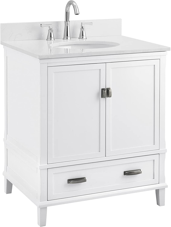 Amazon Com Dorel Living Otum 30 Bathroom Vanity White Furniture Decor