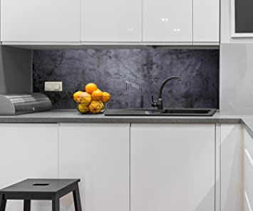Küchenrückwand Schwarze Wand Nischenrückwand Spritzschutz ...