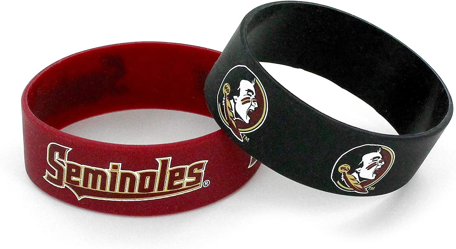 2-Pack NCAA Florida State Seminoles Wide Bracelet