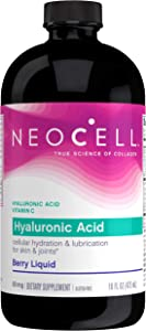 NeoCell Hyaluronic Acid Liquid with Vitamin C, Berry, 16 Ounces (Package May Vary)