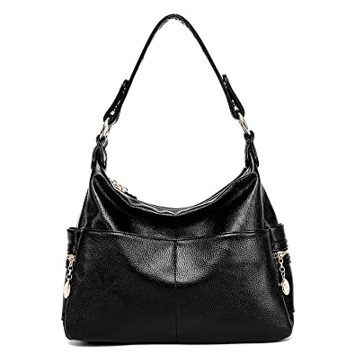 big discount of 2019 great variety styles shades of Lustear Leather Purse Shoulder Bag Hobo Style Handbags for Ladies