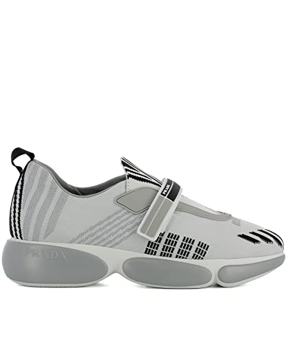 Prada Damen 1E651if0401qcmf0k74 Weiss/Grau Stoff Slip on Sneakers Ab106