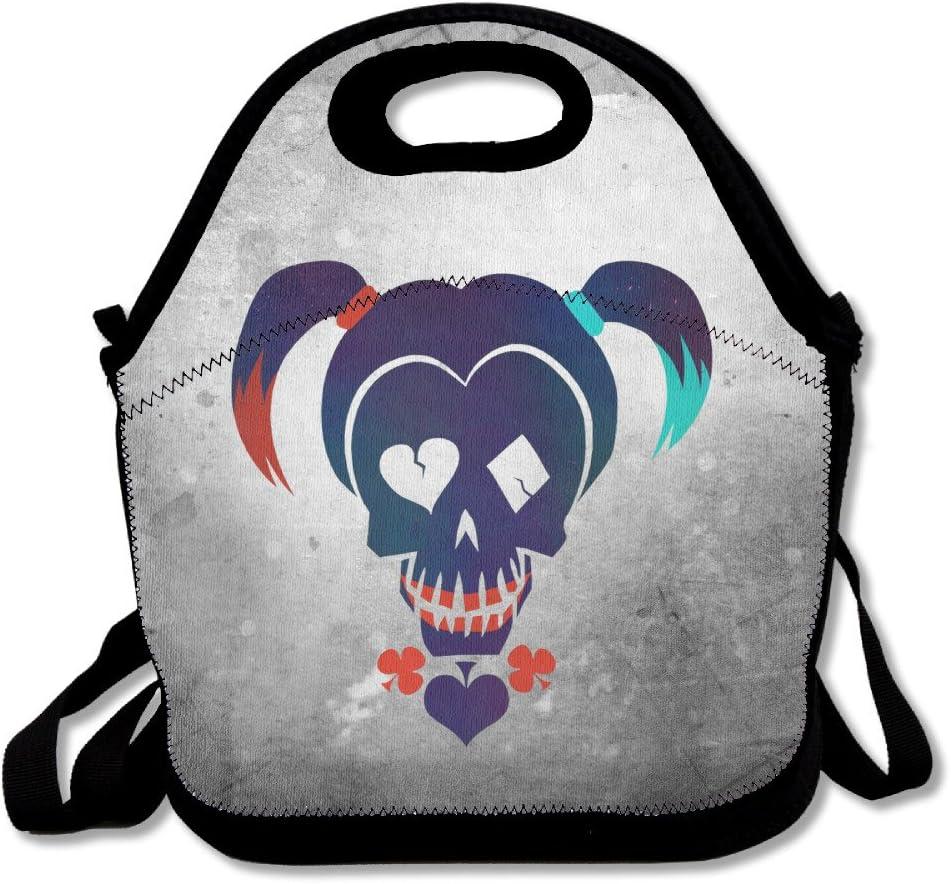 bakeiy Suicide Squad Harley Quinn Lunch Tote bolsa caja de almuerzo neopreno bolso para niños y adultos para viajes y Picnic escuela: Amazon.es: Hogar