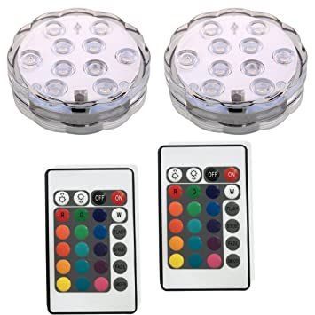 Submersible Led Light ,Remote Controlled Battery Operated Wireless  Multicolor Waterproof Underwater light lamp for Aquarium