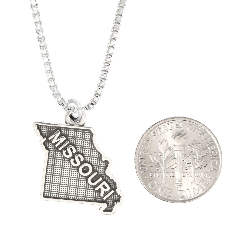 Lgu Sterling Silver Oxidized Missouri Charm with Options