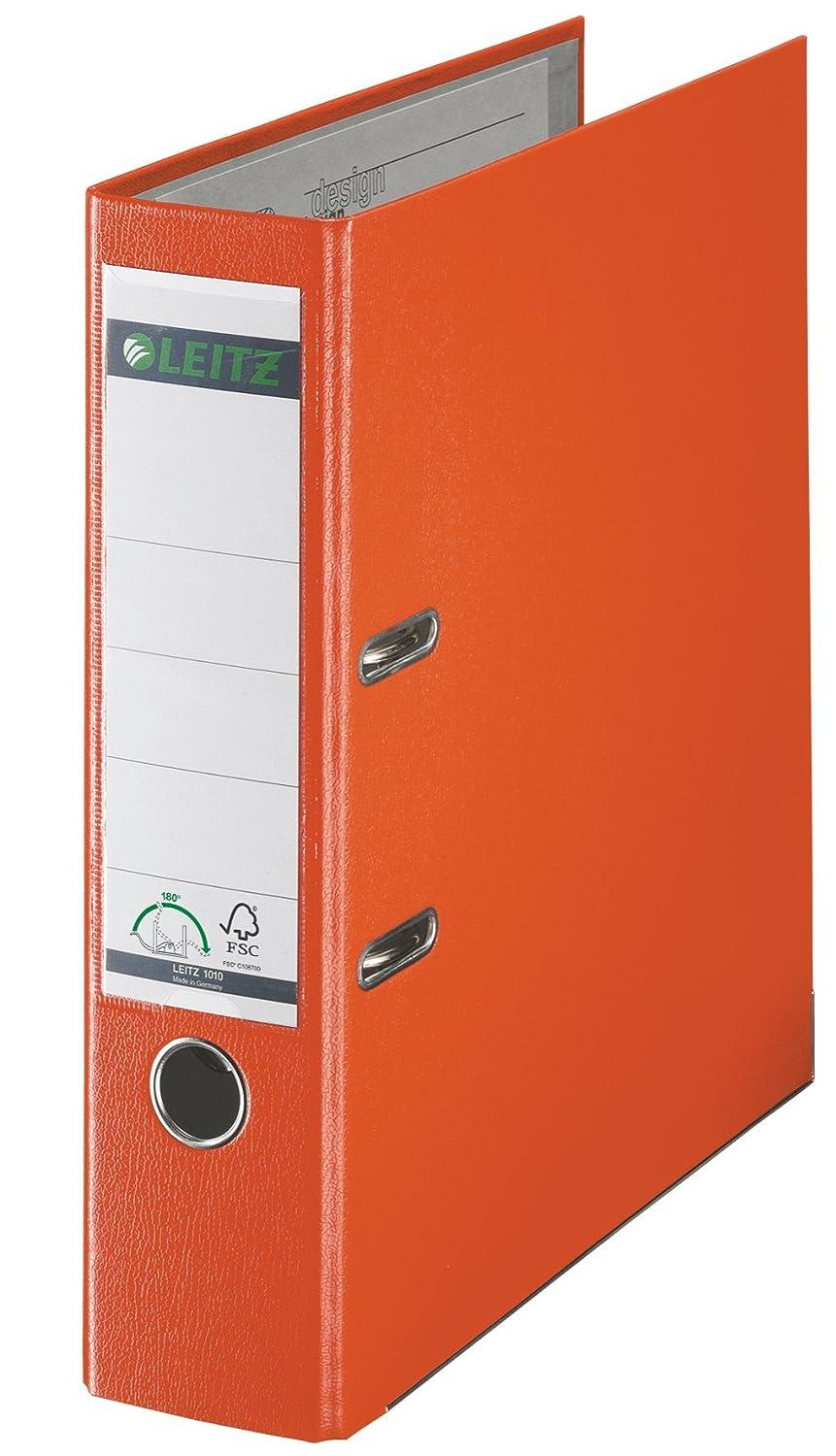 Leitz 10105045 - Archivador plástico con anillas (A4), color naranja: Amazon.es: Oficina y papelería